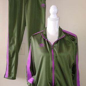 Med & XL SET Umbro women's tracksuit green purple